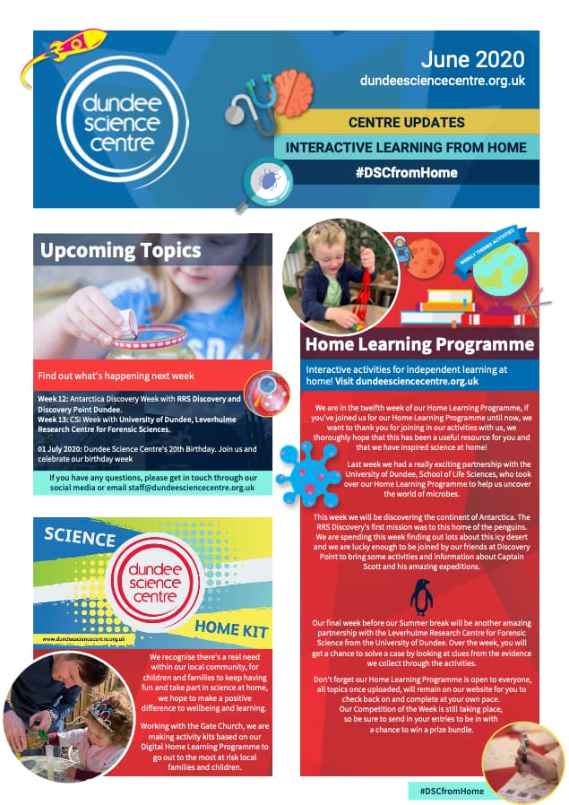 Dundee Science Centre June 2020 Newsletter