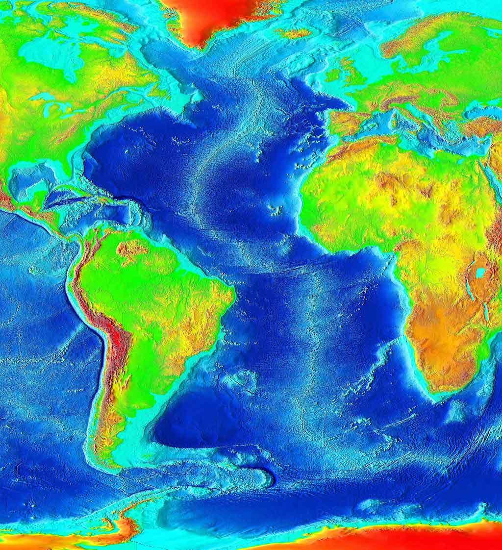Atlantic Bathymetry - Mid-Atlantic Ridge