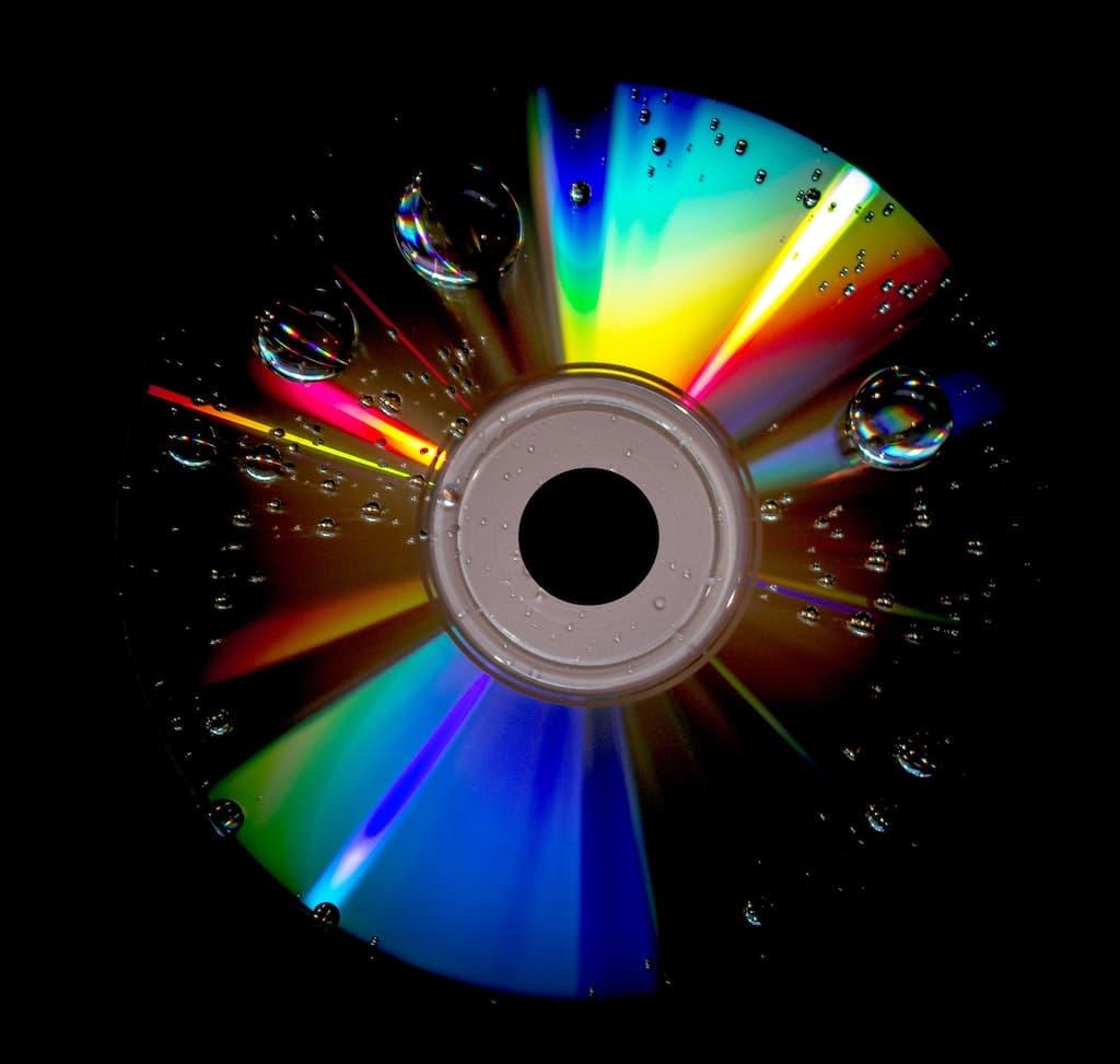 CD-ROM Under Lamp
