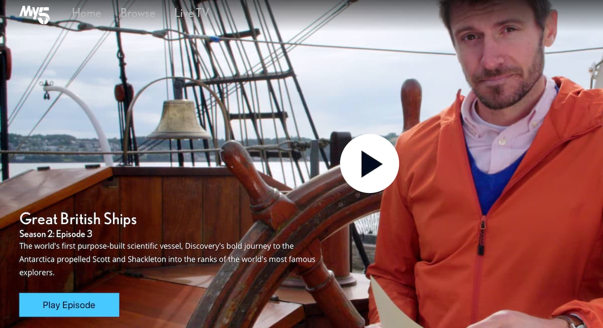 Channel 5 Documentary Filmed on RRS Discovery