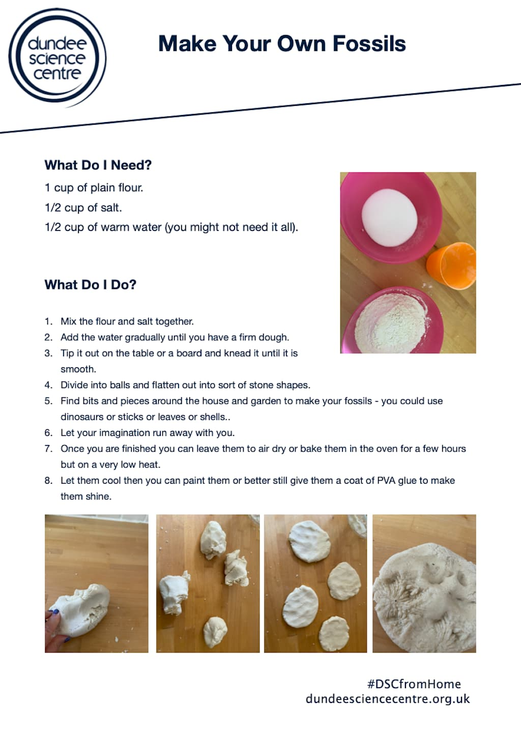 Make Your Own Fossils Worksheet