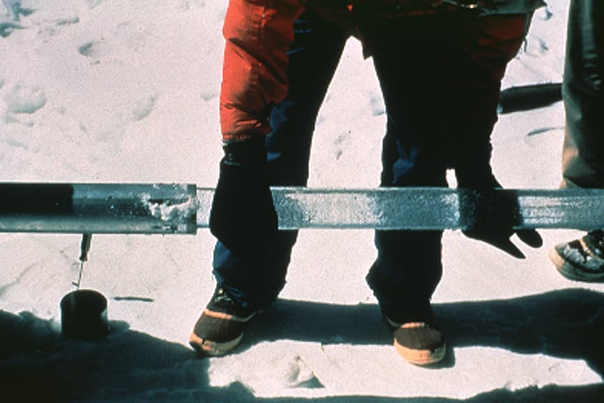 Photograph of Ice Core