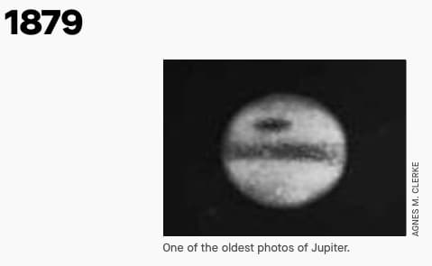 Jupiter Photograph in 1879