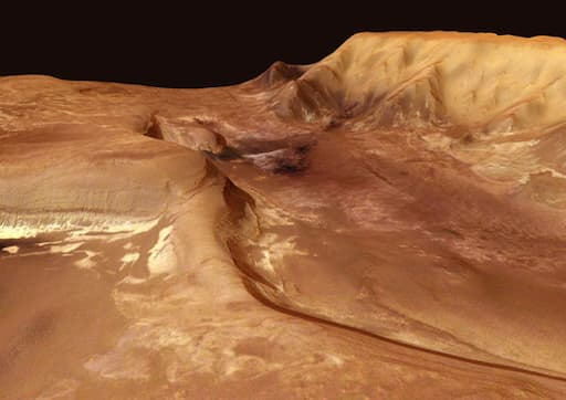 Mars' Valleys and Volcanoes