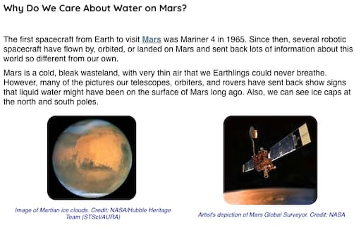 Why Do We Care About Water on Mars?
