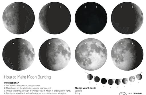 Moon Bunting Activity