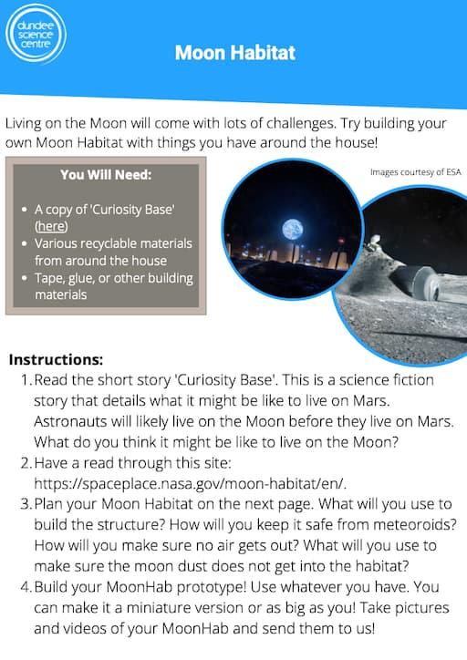 Build Your Own Moon Habitat<