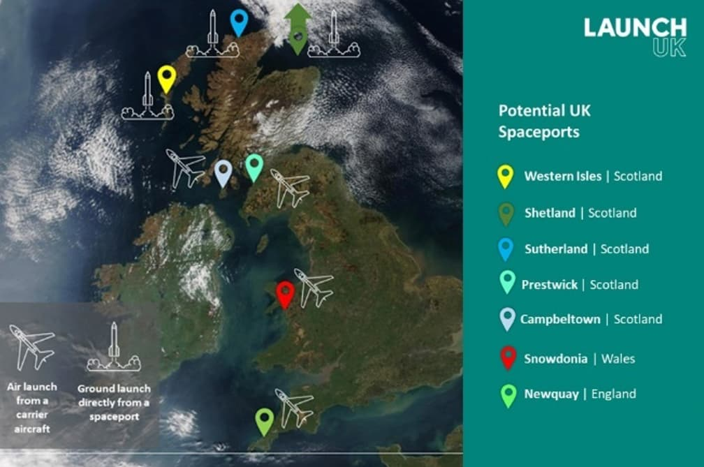 Proposed UK Spaceports