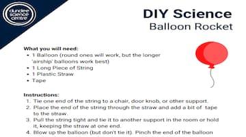 DIY Science - Balloon Rocket