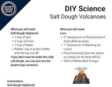 DIY Science - Salt Dough Volcanoes