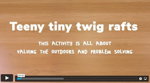 Scots - Teeny Tiny Twig Rafts