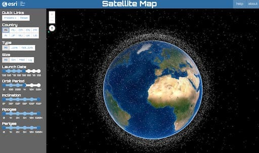 Satellites Map