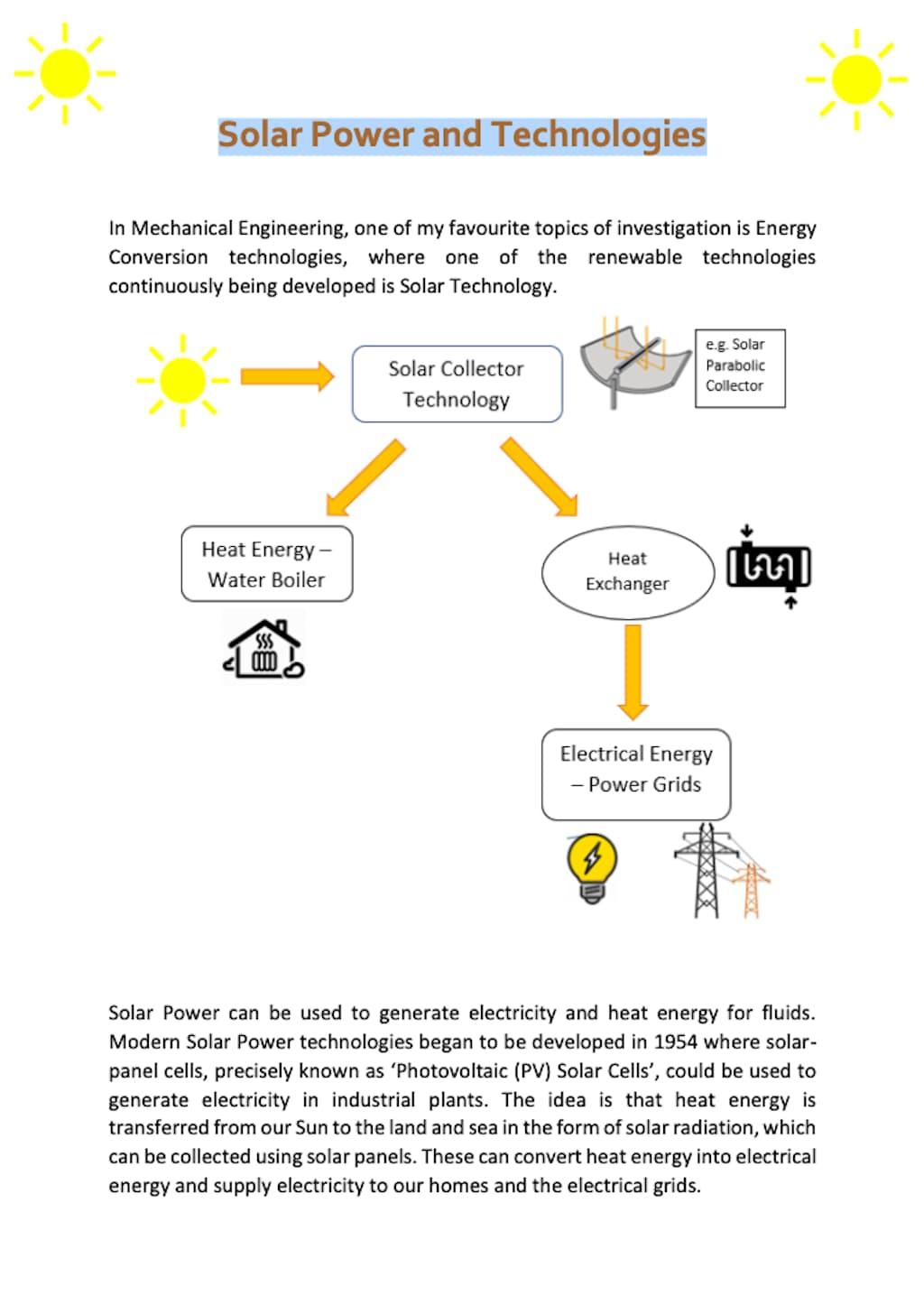 Solar Power Activity Worksheet 1